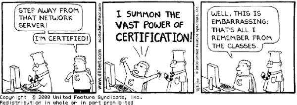 Dilbert Certification Powers